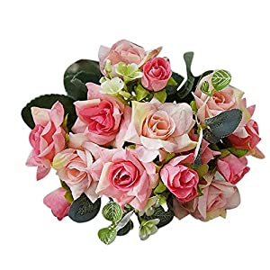 Guoainn 1 Bouquet Artificial Rose Flower DIY Wedding Party Home Hotel Cafe Decoration Add Bauty to Your Life 59