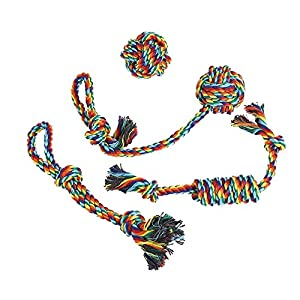 Vivifying 4 Pack Dog Rope Toys, Durable Braided Cotton Pet Chew Rope Toys for Pets Dog Puppy Teeth Cleaning Click on image for further info.