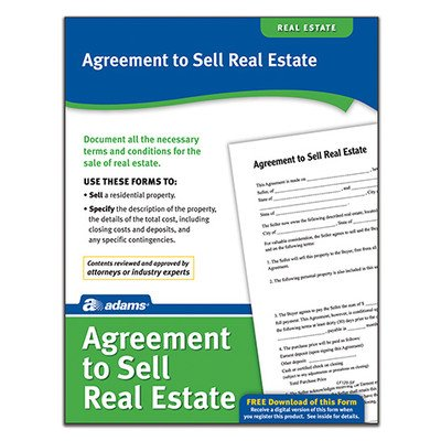 Agreement to Sell Real Estate Forms and Instructions (Set of 288) [Set of 6] by Adams Business Forms