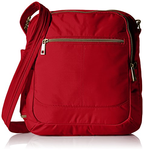 Travelon Anti-Theft Signature N S Shoulder Bag, Cayenne, One Size