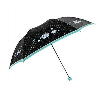 GH sol/lluvia paraguas plegable, diseño de lunares lápiz paraguas anti-UV sombrilla