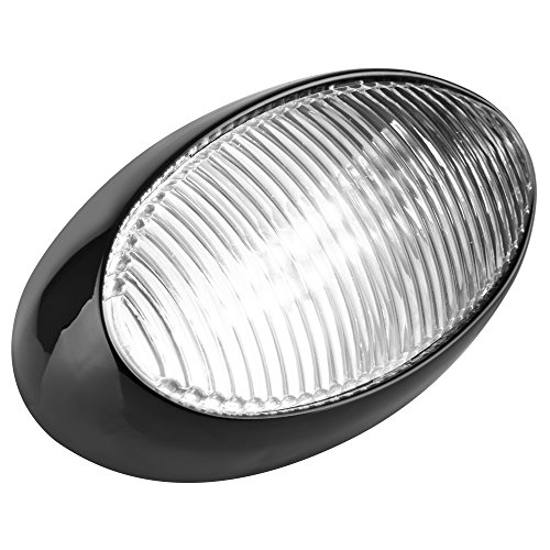 Lumitronics Led Rv Oval Porch Utility Light With Clear