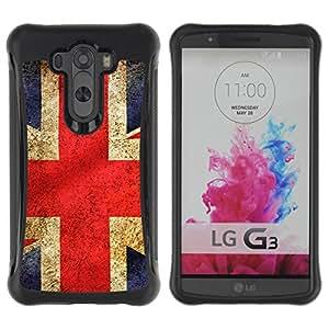 Be-Star único patrón Impacto Shock - Absorción y Anti-Arañazos Funda Carcasa Case Bumper Para LG G3 / D855 / D850 / D851 ( British Flag )