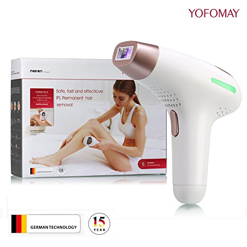 Cheap YOFOMAY Permanent IPL Hair Removal Device Home Use, Face & Body Hair Removal System with Razor, 300,000 Flashes(Gold)