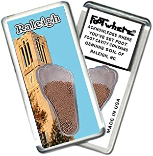 "product image for Raleigh, NC""FootWhere"" Souvenir Fridge Magnet. Made in USA (RLH206 - Bell Tower)"
