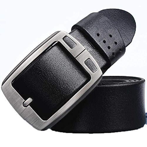 Elibone genuine cowhide leather belts for men brand Strap male pin buckle fancy vintage jeans cintos black belt 120cm