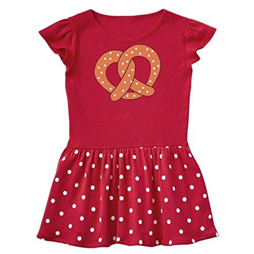 (inktastic - Pretzel Toddler Dress 4T Red with Polka Dots)