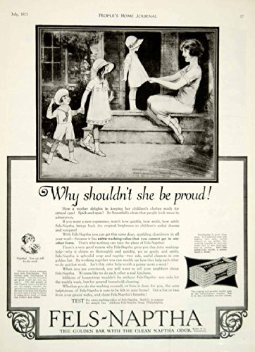 1925 Ad Fels-Naptha Soap Health Beauty Children Mother Roaring Twenties Era - Original Print Ad from PeriodPaper LLC-Collectible Original Print Archive