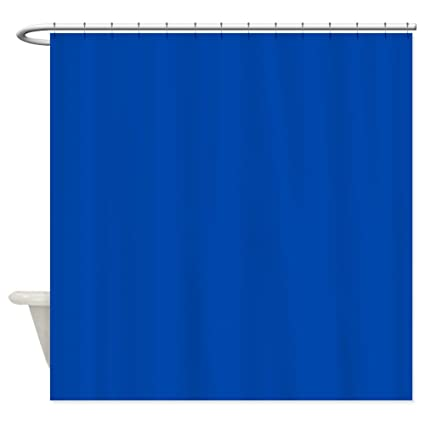 Image Unavailable Not Available For Color CafePress Solid Cobalt Blue Shower Curtain