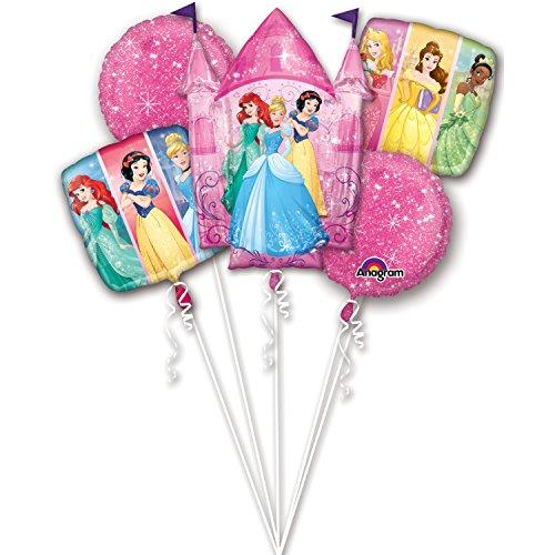 Princess Party Balloon - Princess Party Birthday Cake Bouquet Balloons 5 pieces