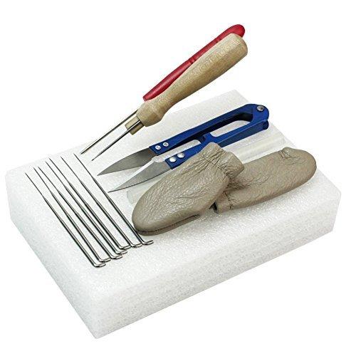 Yosoo para fieltro de aguja Kit de costura herramienta Starter Kit Herramientas de fieltro de lana (Tijeras Protectores de...