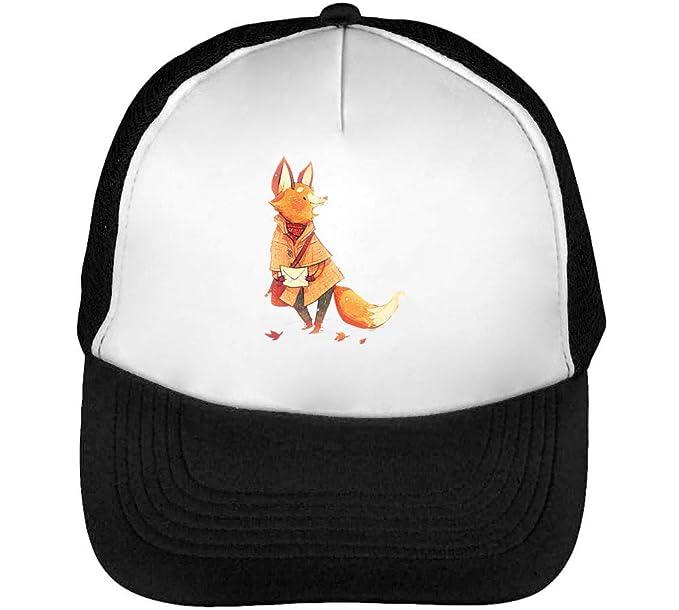 Messenger Fox Cute Gorras Hombre Snapback Beisbol Negro Blanco ...