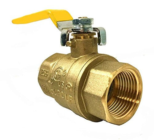 Brass Ball Threaded Valve (Libra Supply 1/4'',1/4 inch, 1/4-inch Lead Free Threaded Brass Ball Valve, (Click in for more size options), IPS Thread, Full Support, 600 WOG, Forge Body)