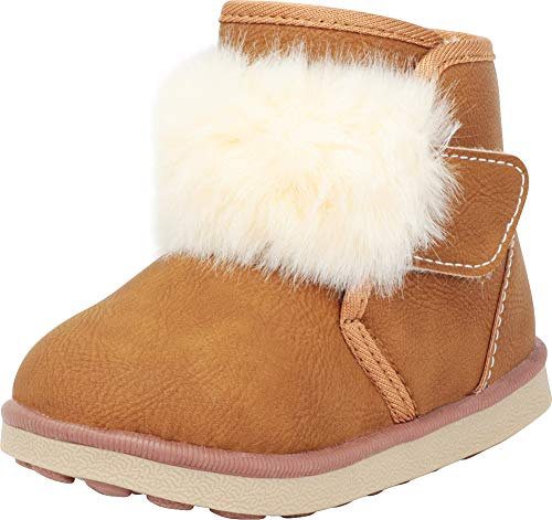 Cambridge Select Baby Girls' Faux Fur Boot (Infant/Toddler),6 M US Toddler,Tan