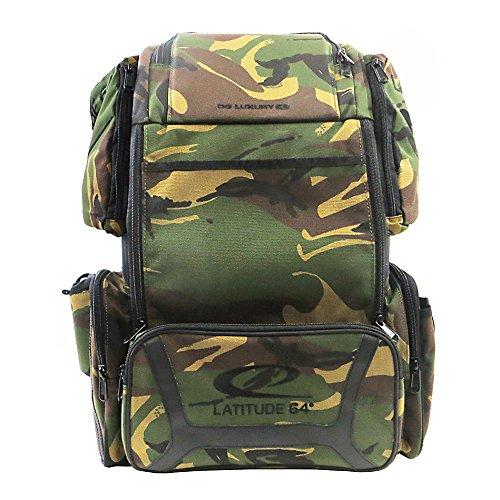 Latitude 64 DG Luxury E3 Backpack Disc Golf Bag Army Camo & Black by Latitude 64