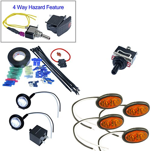 Advance Mcs Electronics Turn Signal Kits   Oval Surface Mount Leds  Install Kit   No Horn  Toggle Switch