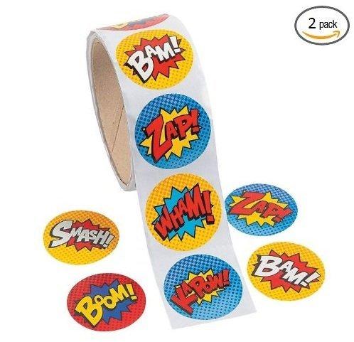 Superhero Sticker Roll 200 Stickers product image