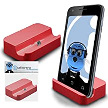 Red Micro USB Sync & Charge / Charging Desktop Dock Stand Charger For Motorola Moto X Play 2015