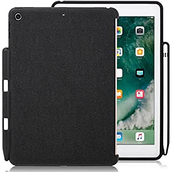 KHOMO - iPad 9.7 Inch Case (2017 & 2018) With Pencil Holder - Companion Cover - Perfect match for Apple Smart keyboard and Cover