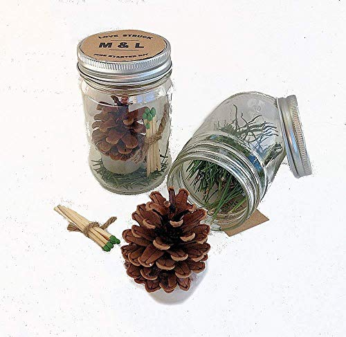 Pine Cone Fire Starter Wedding Gifts & Party Favors (Set or 12)