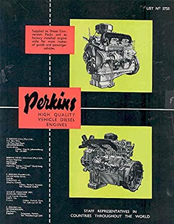 Amazon com: 1954 Perkins Diesel Truck Engine Brochure Austin