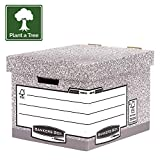 Bankers Box 290 x 330 x 390 mm, System Storage and Archive Boxes With Lids, Grey, Standard, Pack of 10