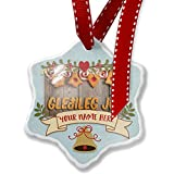 Add Your Own Custom Name, Merry Christmas in Icelandic from Iceland Christmas Ornament NEONBLOND
