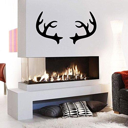 - Chic Holiday Christmas Reindeer - Deer Antler Vinyl Wall Art Decal - 28