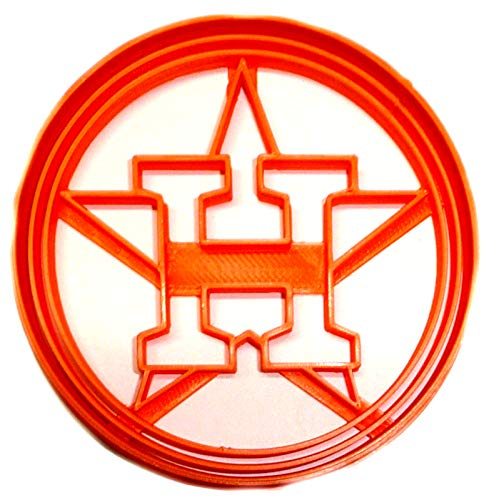 HOUSTON ASTROS H STAR LOGO MLB BASEBALL AMERICAN TEAM SPORTS ATHLETICS SPECIAL OCCASION COOKIE CUTTER BAKING TOOL 3D PRINTED MADE IN USA PR2555