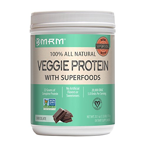 MRM - Veggie Protein Powder, Protein Source for Vegans, Gluten-Free & Preservative-Free, Non-GMO Verified (Chocolate, 1.26 lbs) by MRM (Image #4)