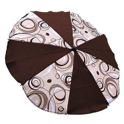 Sombrilla de pantalla para carrito o silla de colour marrón ...