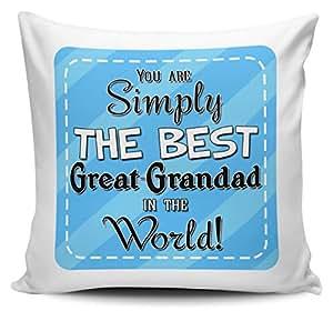 You son simplemente la mejor GREAT-GRANDAD en el mundo–Funda para cojín w/Insert–azul