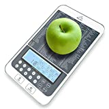 Mackie Food Scale, Digital Kitchen Scale Nutrition Portions Facts Automatic Calorie and Macro Nutrition Calculator Scientific Precision Made Easy