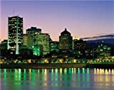 MONTREAL SKYLINE AT NIGHT GLOSSY POSTER PICTURE PHOTO canada quebec cool
