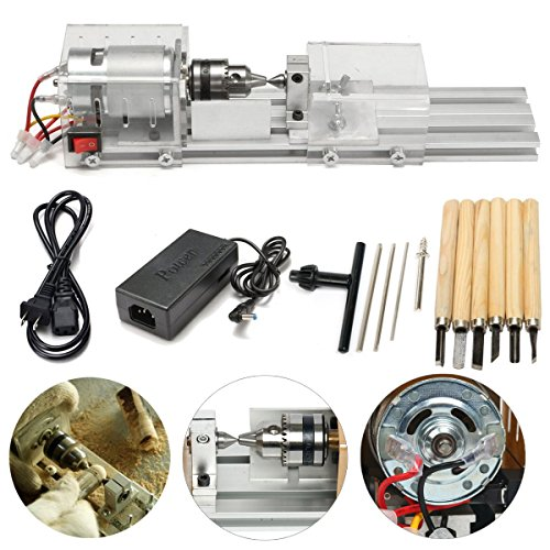 Yaetek Mini Lathe Beads Polisher Machine DIY Woodworking Craft Rotary Tool by YaeTek