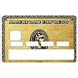 Sticker, autocollant decoratif, pour carte bancaire, American Gold