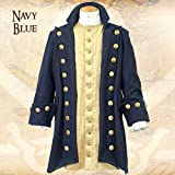 Museum Replicas Buccaneer Blue Wool Pirate Coat XXL
