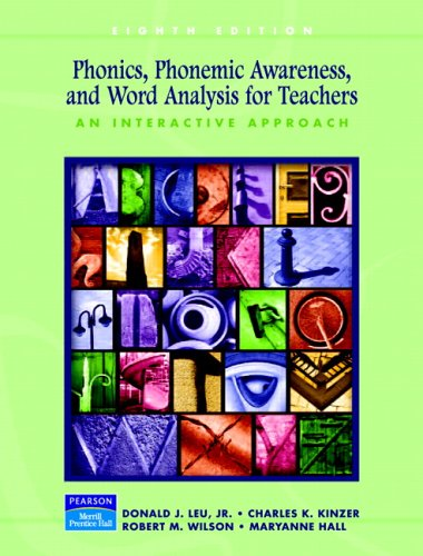 Phonics, Phonemic Awareness, and Word Analysis for Teachers: An Interactive Tutorial (8th Edition)