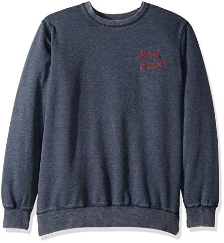 Lucky Brand Big Boys' Long Sleeve Pullover Sweater, French Terry Denim Blue, L (Lucky Long Sleeve Pullover)