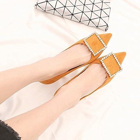 Con Tacón Zapatos La En Cm hembra 6 Plush Kphy 5 De Primavera w1wPq