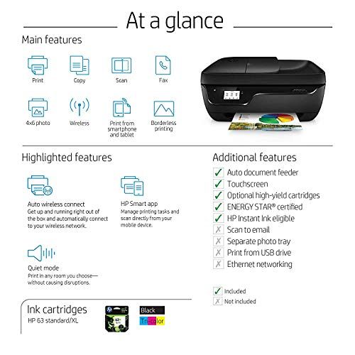 HP OfficeJet 3830 All-in-One Wireless Printer, HP Instant Ink
