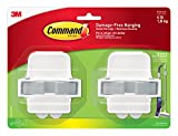 3M Command Damage-Free Broom & Mop Grippers, White, Hangs 4 pounds, Organize without Tools, 2 gripper (17007-HW2ES)
