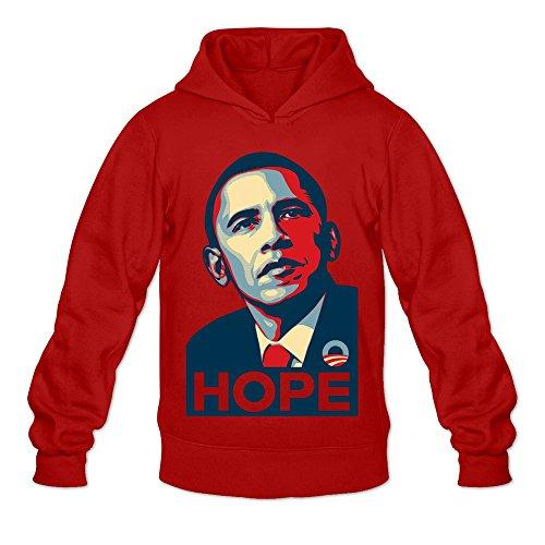 Hooded Barack Sweatshirt Obama (Barack Obama Hoodies For Man O-Neck L Red)