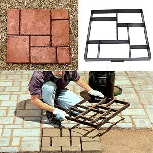 Moldura de encofrado con patrón para ladrillos de hormigón para pavimento: Amazon.es: Jardín