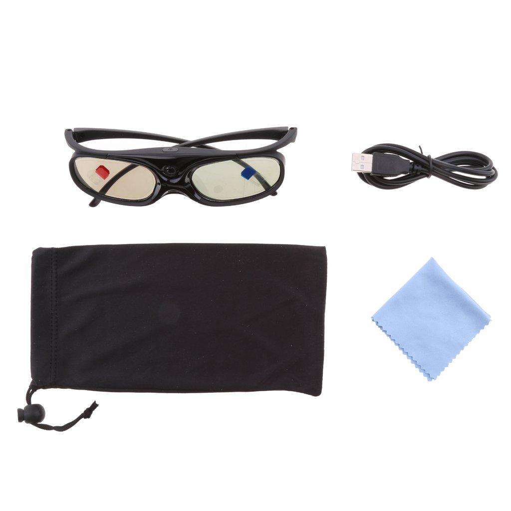 a47746cde7 Sharplace Gafas 3D para Proyectores DLP-LINK Obturador Activo  Acer/BenQ/Optoma Negro