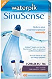 Waterpik SWS 360 Sinusense Squeeze Bottle Includes 60 Soothing Saline Packs With Aloe Vera and Eucalyptus, Blue, Health Care Stuffs