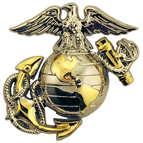 (EagleEmblems United States Marine Corps Gold Tone Logo Emblem Lapel / Hat Pin)