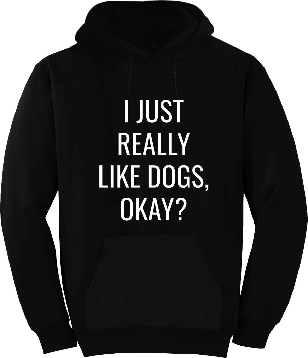 BuffThreads I JUST Really Like Dogs Okay? Hoodie Black