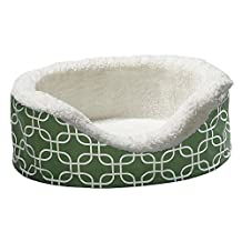 Orthoperdic Egg-Crate Nesting Pet Bed w/ Teflon Fabric Protector, XS Green