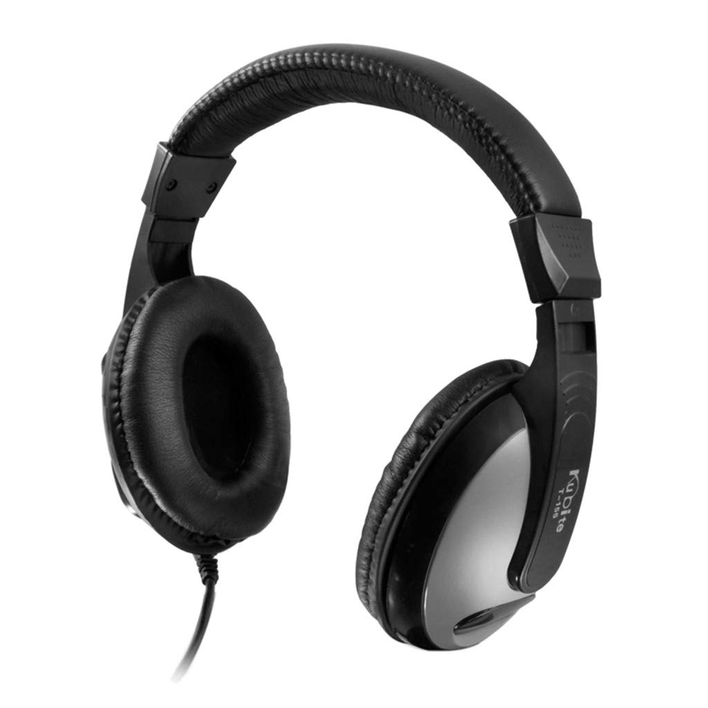 Sonmer Kubite T155 3.5mm Wired Noise Cancelling Stereo Foldable Over Ear Gaming Headphone With Mic,for MP3/MP4 iPhone Android Smartphone Tablet PC (Black)